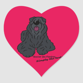 Bouvier of the Flandres - Simply the best! Heart Sticker
