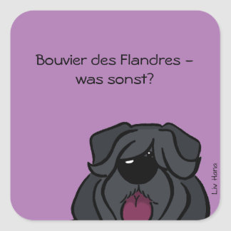 Bouvier of the Flandres - which otherwise? Square Sticker