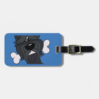 Bouvier of the Flandres with bones Luggage Tag