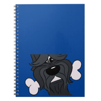 Bouvier of the Flandres with bones Spiral Notebook