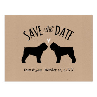 Bouvier Silhouettes Wedding Save the Date Postcard
