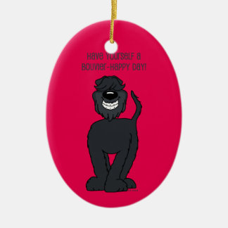 Bouvier Smile Ceramic Ornament
