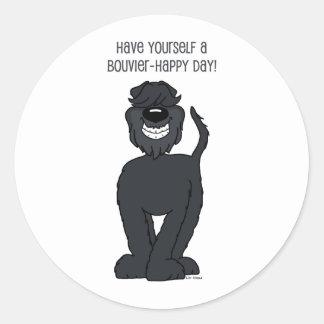 Bouvier Smile Classic Round Sticker