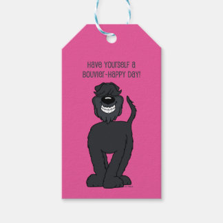 Bouvier Smile Gift Tags