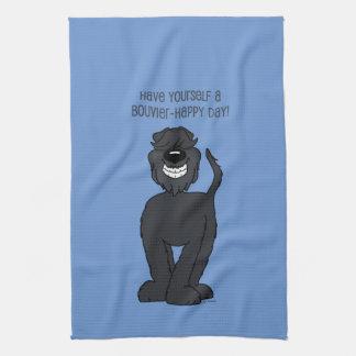 Bouvier Smile Tea Towel