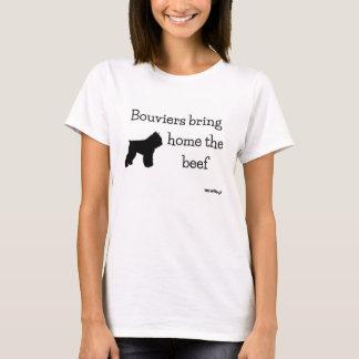 Bouviers bring home the beef - HerdNerd T-Shirt