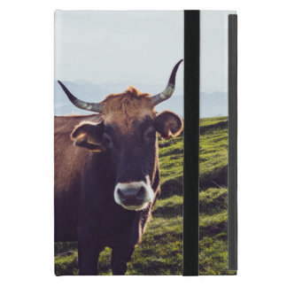 Bovine Cow on Beautiful Landscape Cover For iPad Mini