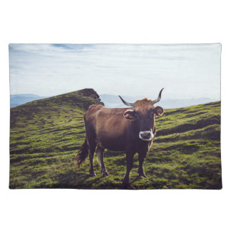 Bovine Cow on Beautiful Landscape Placemat