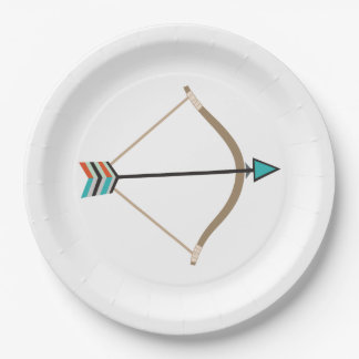 Bow and Arrow Paper Plate 9 Inch Paper Plate