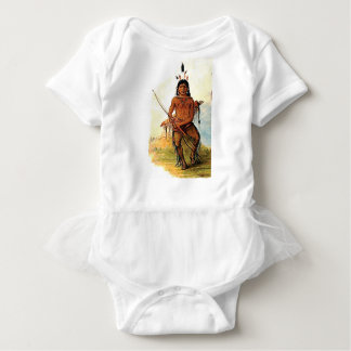 bow armed warrior baby bodysuit