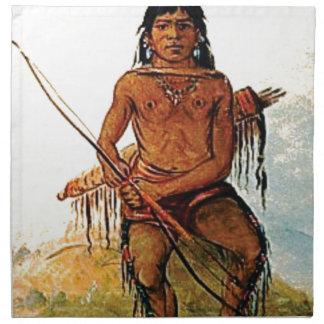 bow armed warrior napkin