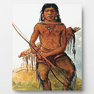 bow armed warrior plaque
