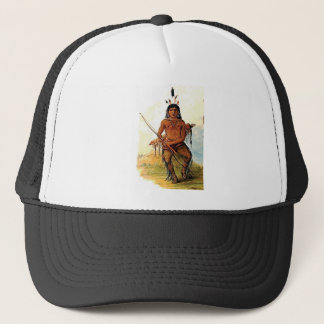 bow armed warrior trucker hat