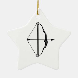 Bow & Arrow Ceramic Ornament