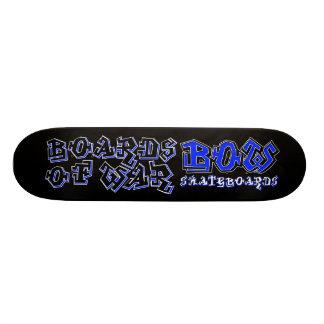 BOW Blue Graffiti Deck 21.3 Cm Mini Skateboard Deck