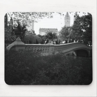 Bow Bridge, Black and White, Central Park, NYC Mouse Pad