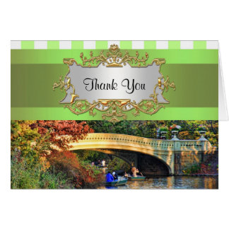 Bow Bridge, Central Park NYC Thank You Card
