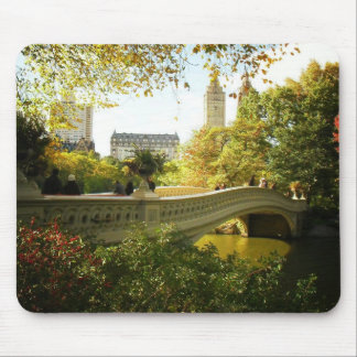Bow Bridge in Autumn, Central Park, New York City Mouse Pad