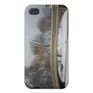 Bow Bridge, Winter Landscape, New York City iPhone 4 Covers