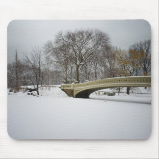 Bow Bridge, Winter Trees, Central Park, NYC Mouse Pads