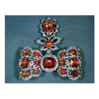 Bow brooch set with brilliant postcard