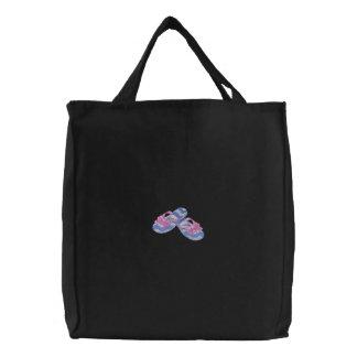 Bow Flip Flops Canvas Bag