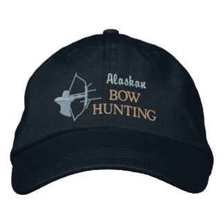 Bow Hunting Custom State by State Embroidered Hat