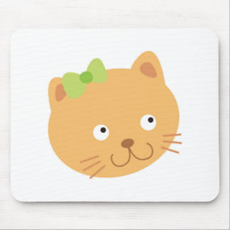 Bow Kitty Cat Mouse Pad