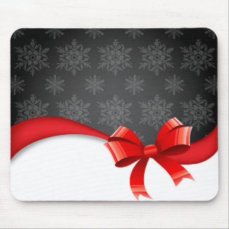 bow&Snowflakes Mouse Pads