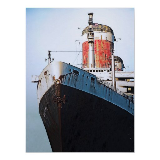 Bow:  SS United States Poster