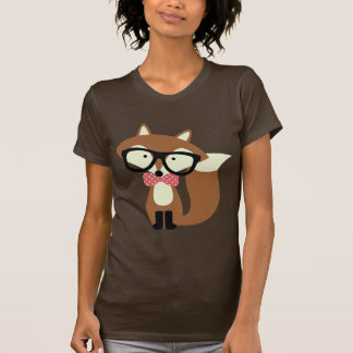 Bow Tie and Glasses Hipster Brown Fox T-Shirt