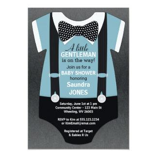 Bow Tie Baby Shower Invitation, Suspender Invite