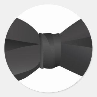 bow tie bowtie classic round sticker
