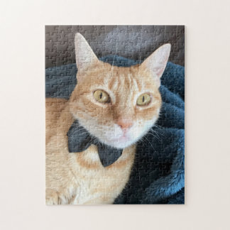 Bow tie cat jigsaw puzzle