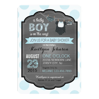 Bow-tie Diapers and Booties Baby Shower Invitation