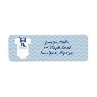 Bow Tie Little Man Baby Shower Address Return Address Label