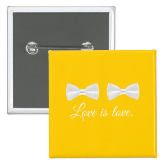 BOW TIE LOVE -.png 15 Cm Square Badge