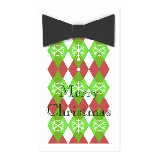Bow Tie Merry Christmas Cards Pack Of Standard Business Cards