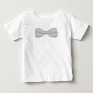Bow tie - strips - gray and white. baby T-Shirt