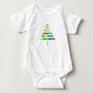 Bow Tie Tree Baby Bodysuit