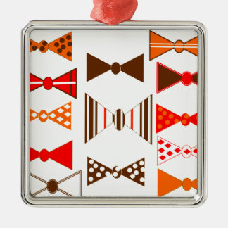 Bow Ties Retro Metal Ornament