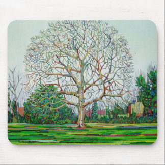 Bow Tree Winter Mouse Pad