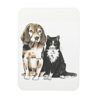 Bow wow and Meow Magnet