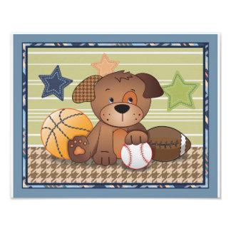 Bow Wow Puppy Buddies Sports Dog Nursery Art Art Photo