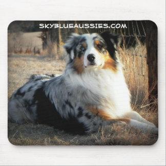 Bowdie - Sky Blue Aussie Mouse Pad