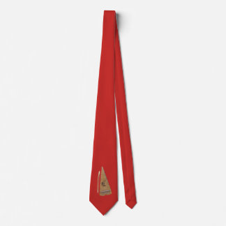 BOWED PSALTERY-ON BRUSHED  RED CHERRY TIE