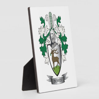 Bowen Family Crest Coat of Arms Display Plaques