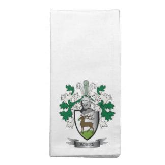 Bowen Family Crest Coat of Arms Napkin