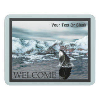 Bowhead Whale  - Welcome Door Sign