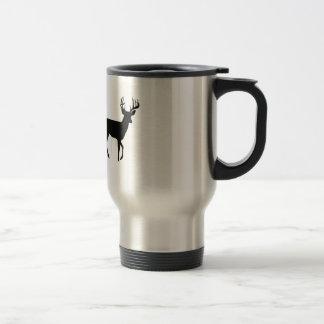 Bowhunter in Treestand Shooting Deer Stainless Steel Travel Mug